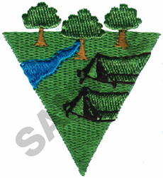 CAMPING embroidery design