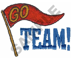 GO TEAM! embroidery design