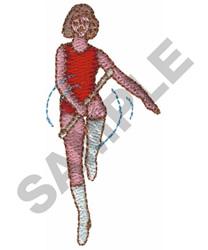 BATON TWIRLER embroidery design