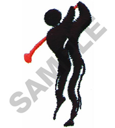 GOLF FIGURE embroidery design