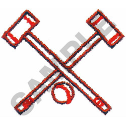 CROQUETTE MALLETS & BALL embroidery design