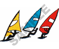 WINDSURFING embroidery design