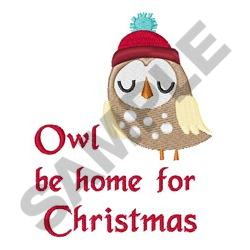 OWL BE HOME embroidery design