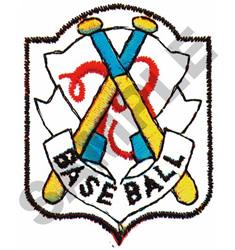BASEBALL CREST embroidery design