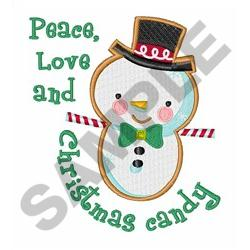 PEACE LOVE AND CANDY embroidery design