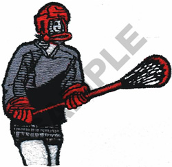 LACROSSE PLAYERS embroidery design