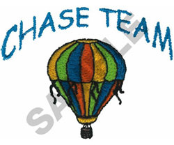 CHASE TEAM HOT AIR BALLOON embroidery design