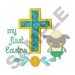 FIRST EASTER APPLIQUE embroidery design