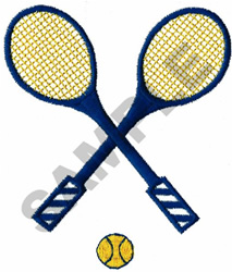 TENNIS RACQUETS & BALL embroidery design