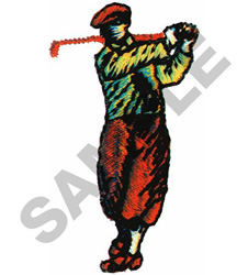 GOLFER #348 embroidery design