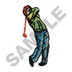 GOLFER #349 embroidery design