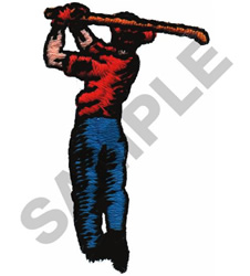 GOLFER #354 embroidery design
