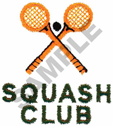 SQUASH CLUB embroidery design
