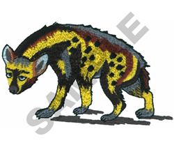 HYENA embroidery design