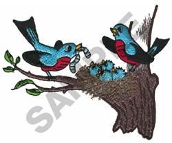 BIRD SCENE embroidery design