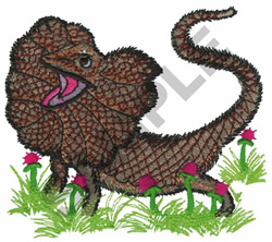 FRILLED DRAGON embroidery design