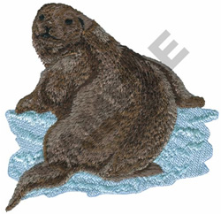 RIVER OTTER embroidery design