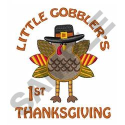 FIRST THANKSGIVING embroidery design