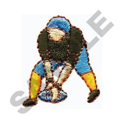 FOOTBALL CENTER POSITION embroidery design