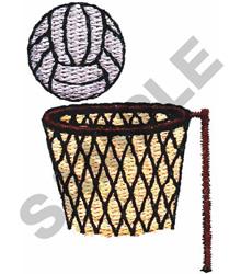 BALL & NET embroidery design