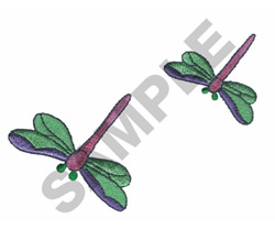 DRAGONFLIES embroidery design