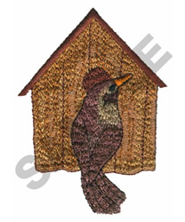 BIRDHOUSE & BIRD embroidery design