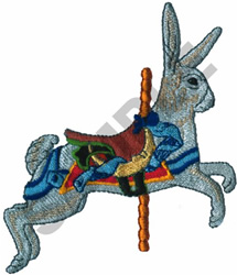CAROUSEL RABBIT embroidery design