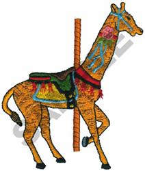 CAROUSEL GIRAFFE embroidery design