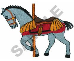 CAROUSEL HORSE embroidery design