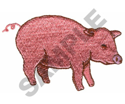 PIG embroidery design