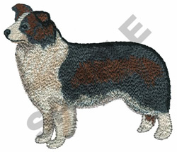 BORDER COLLIE embroidery design