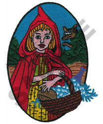 LITTLE RED RIDING HOOD embroidery design