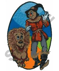 SCARECROW  & LION embroidery design
