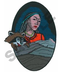 POCAHONTAS embroidery design