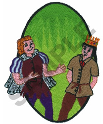 PRINCE AND THE PAUPER embroidery design