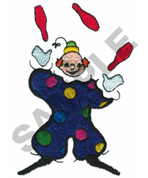 JUGGLING CLOWN embroidery design