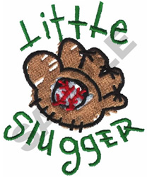 LITTLE SLUGGER BASEBALL GLOVE embroidery design