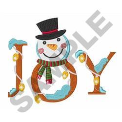 JOY SNOWMAN embroidery design