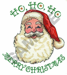 HO HO HO MERRY CHRISTMAS embroidery design