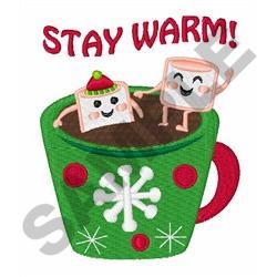STAY WARM COCOA embroidery design