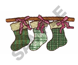 STOCKINGS ON A STICK embroidery design