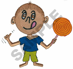 BOY WITH LOLLIPOP embroidery design