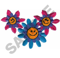 SMILEY FLOWERS embroidery design