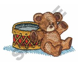 TEDDY BEAR & DRUM embroidery design