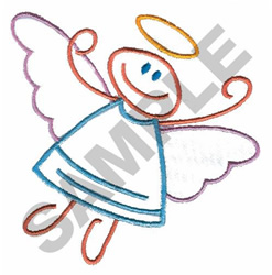 STICK ANGEL embroidery design