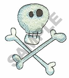 SKULL AND BONES embroidery design
