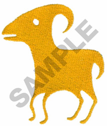 PRIMITIVE ANIMAL DRAWING embroidery design