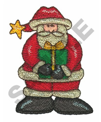 SANTA CLAUS & GIFT embroidery design