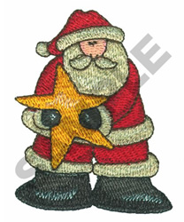 SANTA & STAR embroidery design
