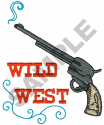 WILD WEST WITH GUN embroidery design